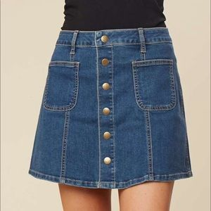 NWT Altar'd State Denim Button  Mini Skirt 445